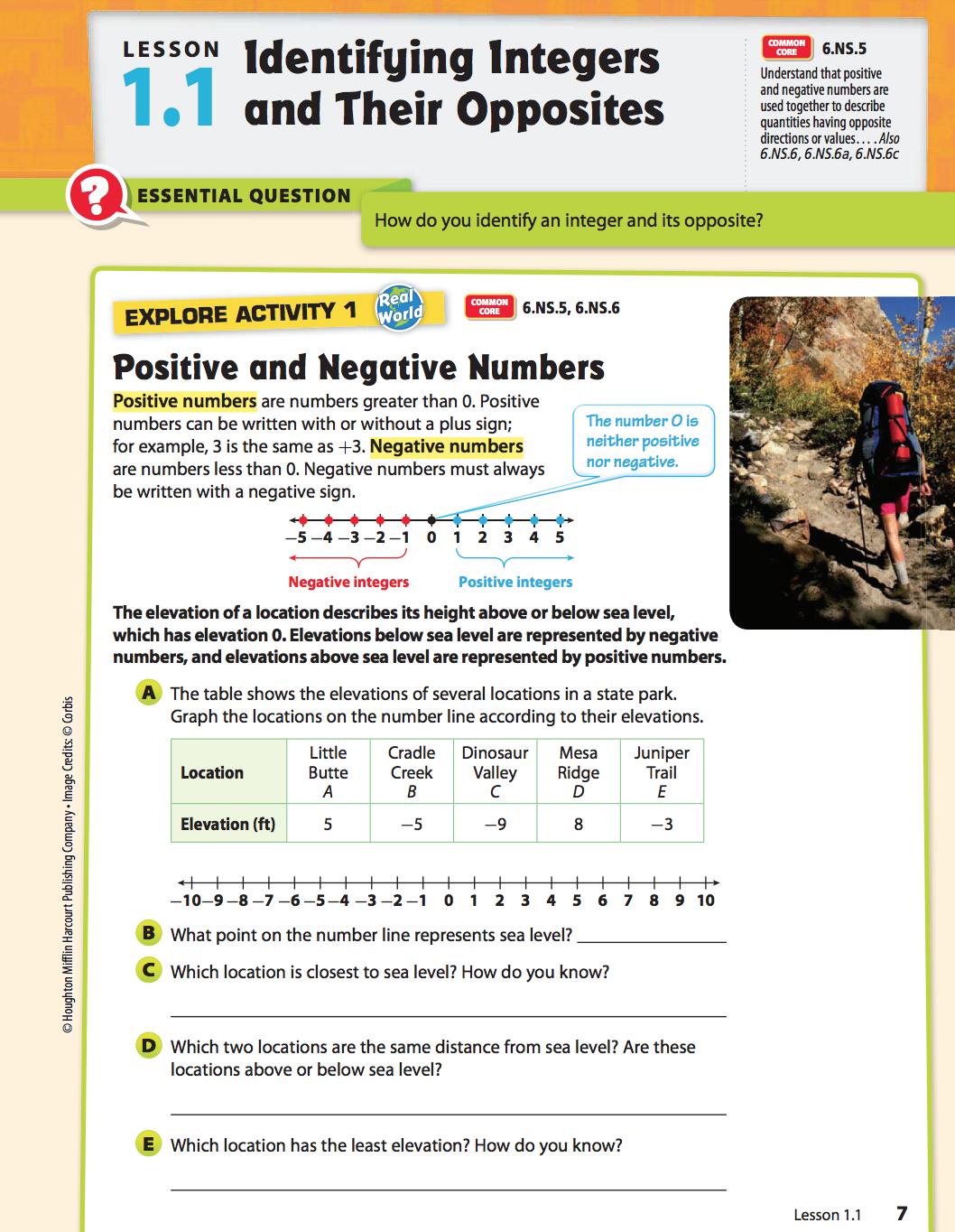 Houghton Mifflin Harcourt Go Math Grade 7